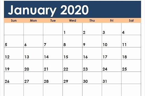 Printable Calendar 2020 Word Template