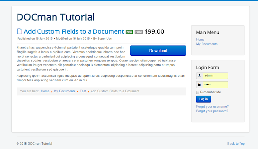Custom Fields for DOCman - Joomlatools