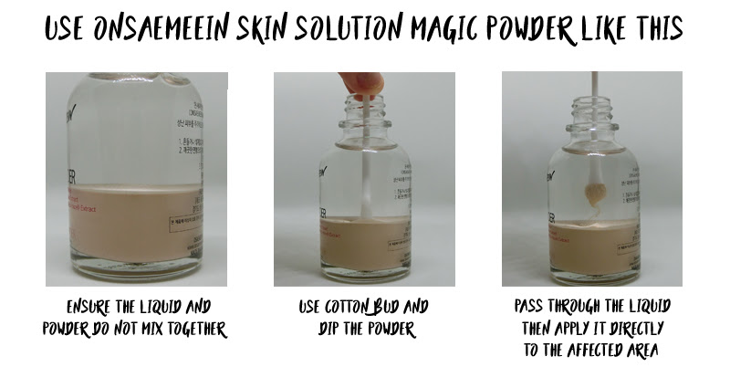 How to Use Onsaemeein Magic Skin Solution Powder