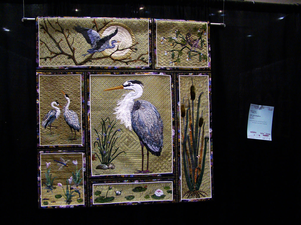 DSC02701 Quilt 1086 Heron Happiness by Kathy McNeil