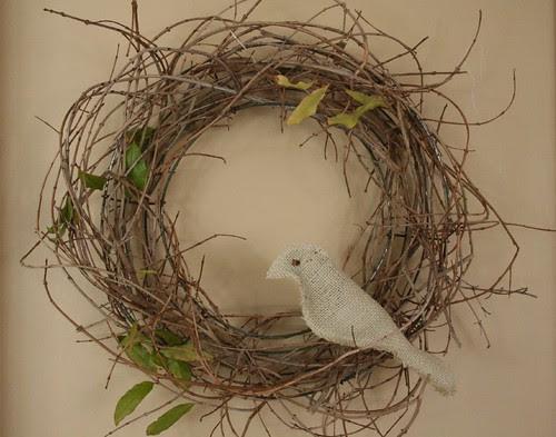 bird in a wreath