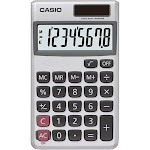 Casio SL300VC Solar Handheld Calculator - 8 Digits - silver