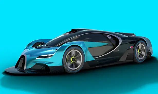 Bugatti Concept Proposal : Bugatti Inspired Futuristic Racing Car - Tuvie