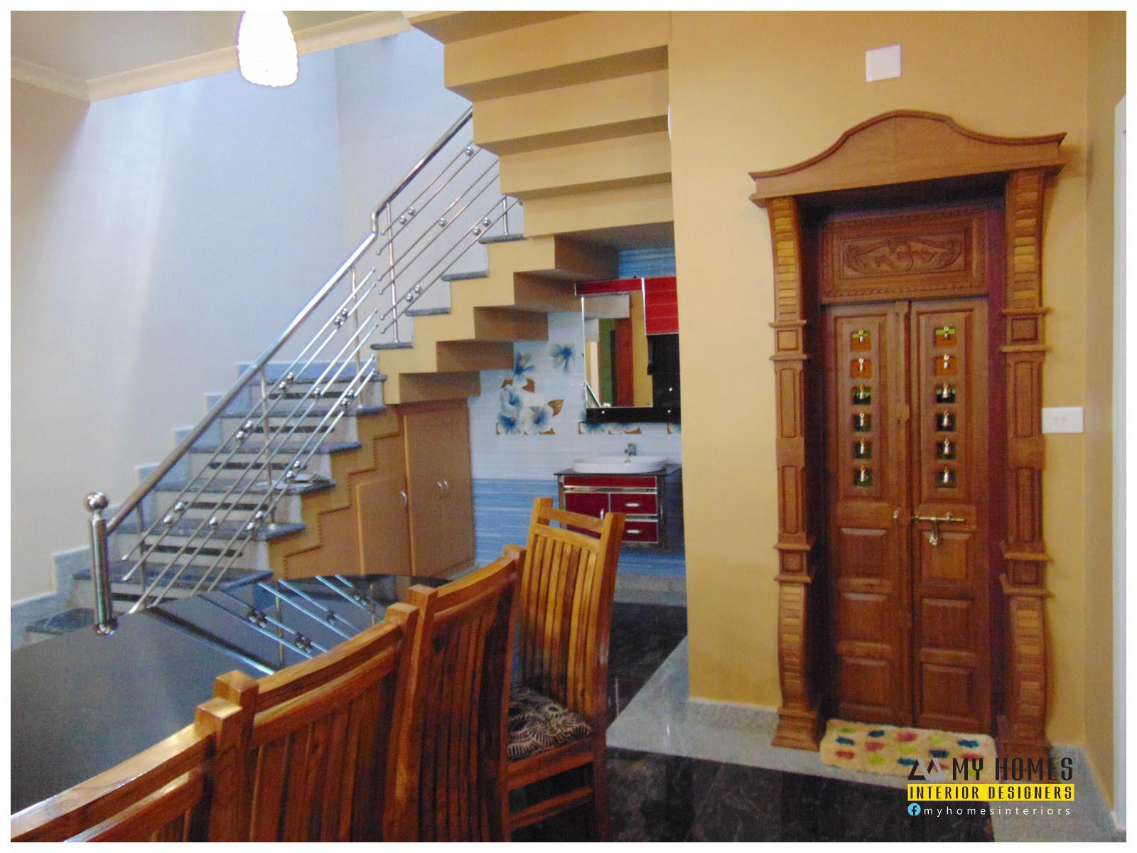 pooja room door designs kerala  | 294 x 400