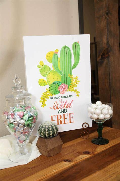 "Kara's Party Ideas ""Love Grows Here"" Cactus Themed Wedding"