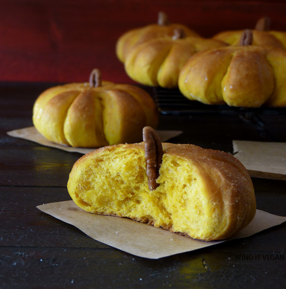 Pumpkin Dinner Rolls (or breakfast!)