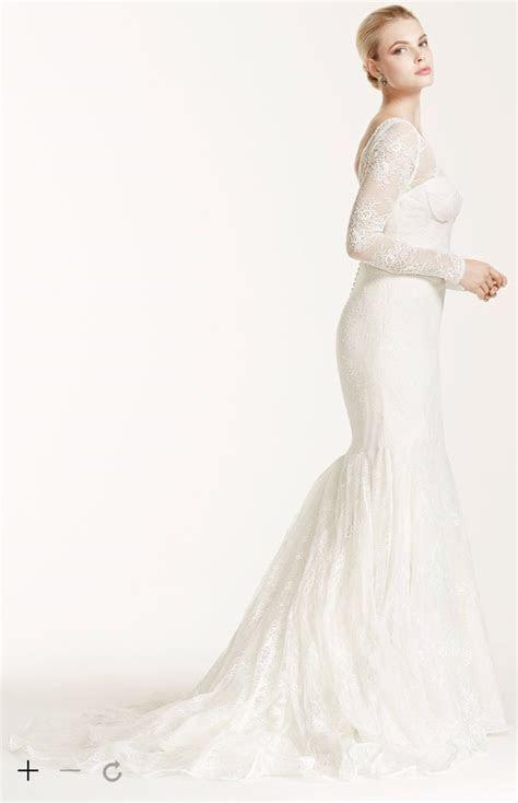 David's Bridal Long Sleeve Lace Trumpet Mermaid Wedding