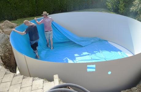 Pool einbauen ohne beton - Pool im boden einlassen ...
