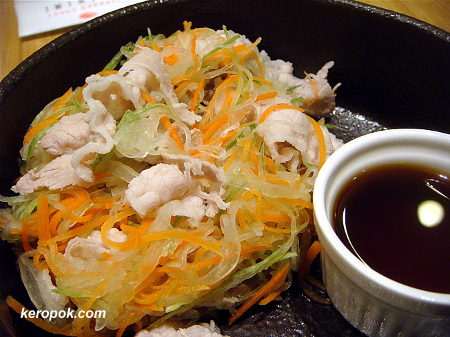 Boiled Pork Slices with shredded Veg