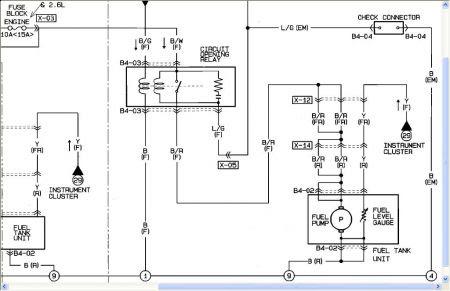 Mazda Fuel Pump Diagram - Wiring Diagram