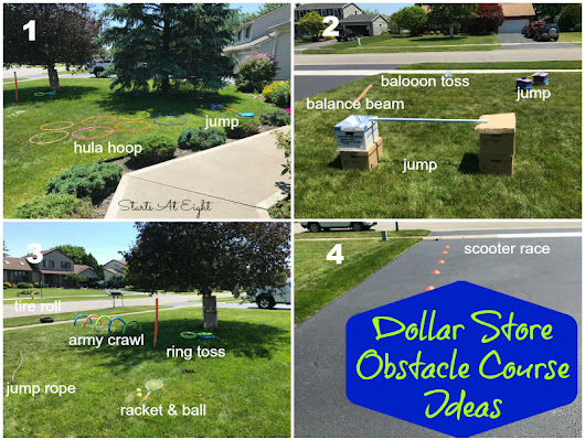 Dollar Store Obstacle Course Ideas {Inexpensive Outdoor Fun}