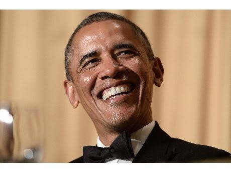 Barack Obama en la cena para los corresponsales de la Casa Blanca   (ANSA).