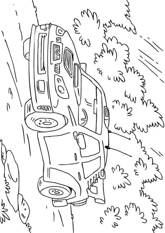 Disegno Da Colorare Auto Da Rally Cat 27170