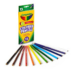 Crayola Colored Non-Toxic Pencils, Long - 12 Count