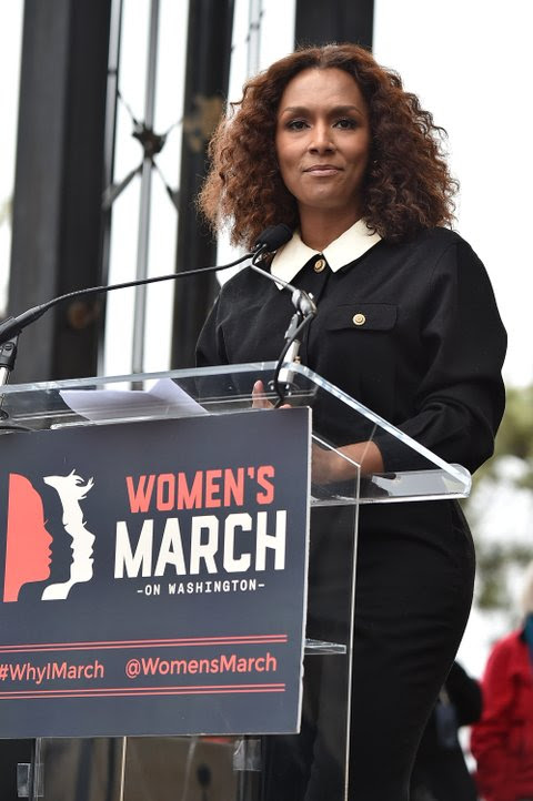 Image result for Janet Mock speaks at women's march