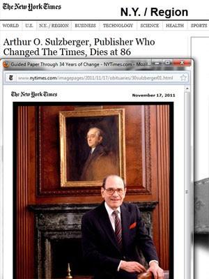 Sulzberger ficou à frente do período por 34 anos (Foto: Reprodução)