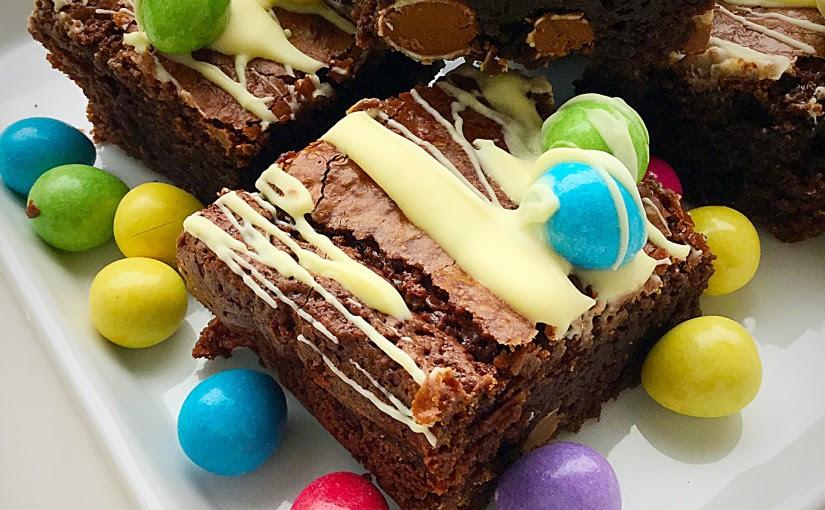 Smarties Chocolate Mini Egg Brownies