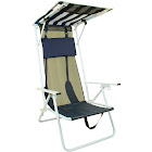 Quik Shade Beach Chair with Carrying Case, Navy Blue Striped