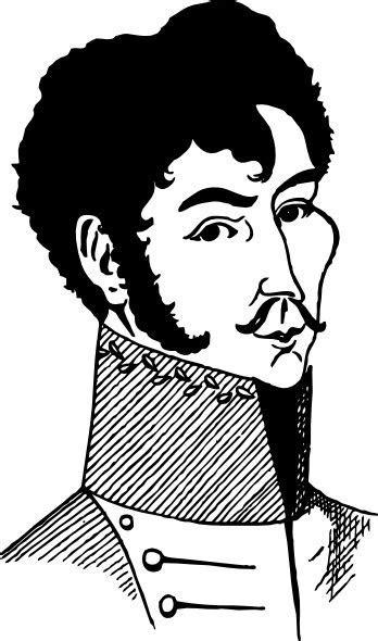 Simon Bolivar clip art Free vector in Open office drawing