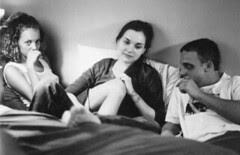 Bijou Phillips, Rachel Miner and Brad Renfro in BULLY