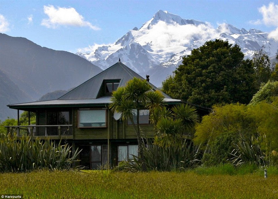 Airstrips: Properties like this five-bed home, close to the world renowned Franz Jospeh Glacier, are especially attractive to international buyers because they come with their own airstrip