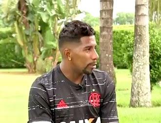 Rodinei, lateral, Flamengo, em Tatuí (Foto: Reprodução / TV TEM)