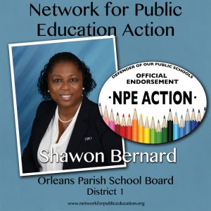 NPE Action Endorses Shawon Bernard for OPSB