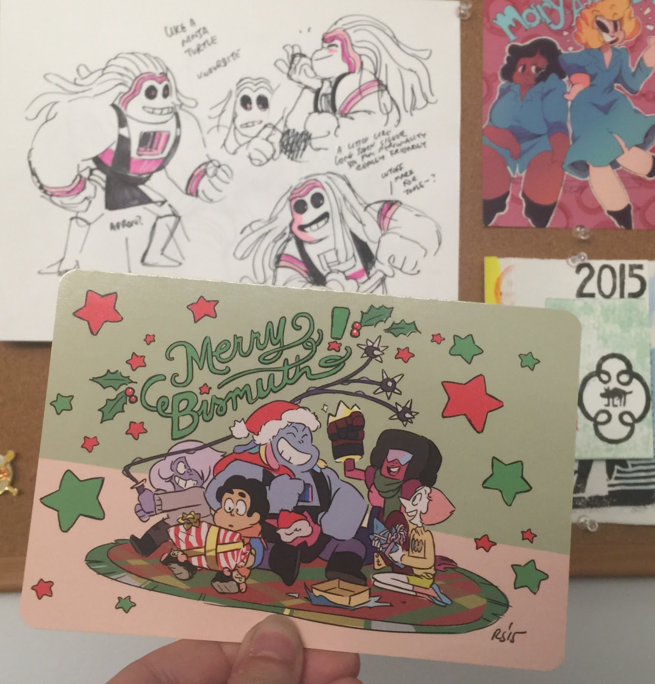 2015 secret crew holiday card - Merry Bismuth!