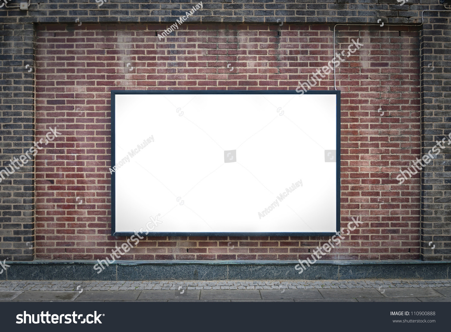 One Blank Billboard Attached Buildings Exterior Stock Photo ...