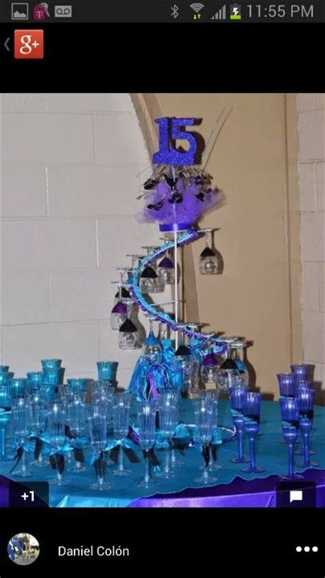 Quinceanera spiral champagne cup holder   Quinceanera