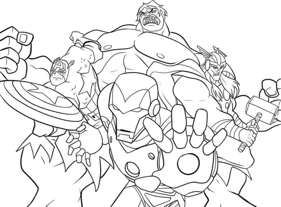 86 Top Printable Coloring Pages For Avengers Images & Pictures In HD
