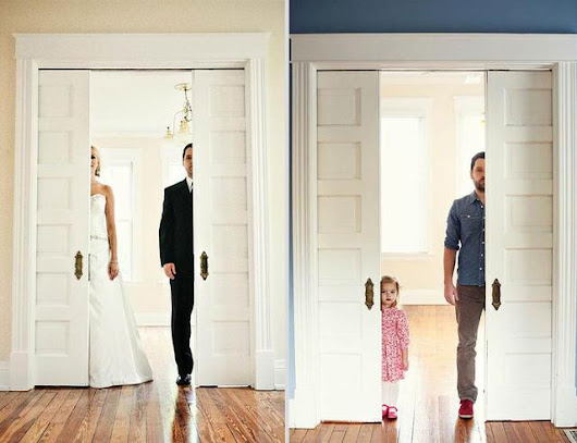 Man Honors His Deceased Wife by Recreating Wedding Photos with Their Three-Year-Old Daughter