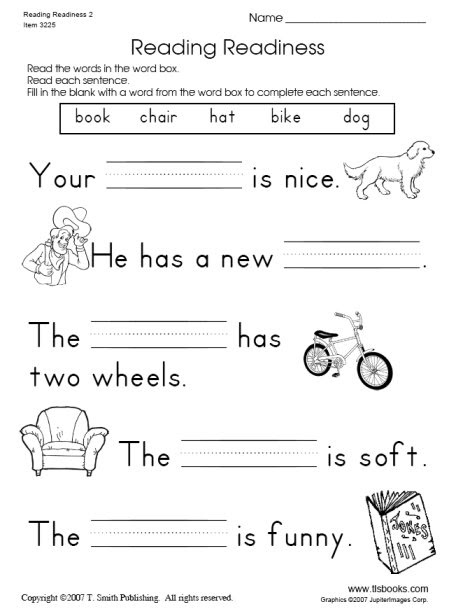 Learn Online: Reading Worksheets For Kindergarten