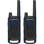 Motorola Talkabout T800 35-mile Two-way Radio Pair - Black/Blue - FRS - 462-467 MHz - 11 weather channels (7 NOAA) - Weatherproof
