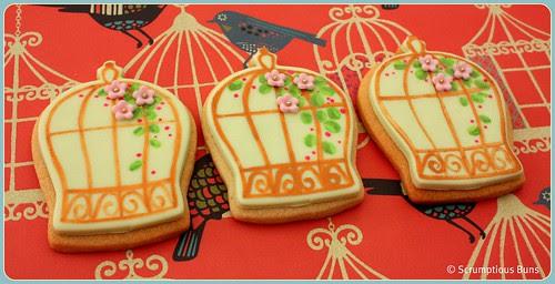 Birdcage Cookies by Scrumptious Buns (Samantha)