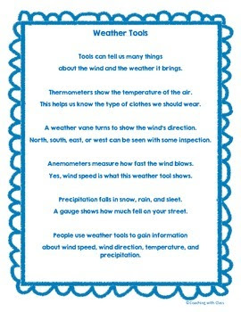 Weather Tools Poem