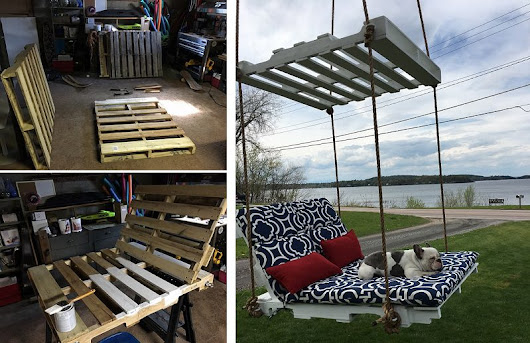 How to Make Pallet Hanging Lounge Swing - iCreatived
