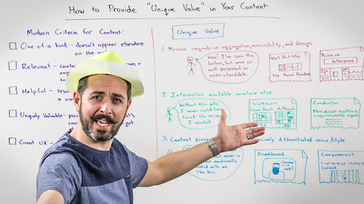 How to Provide Unique Value in Your Content - Whiteboard Friday