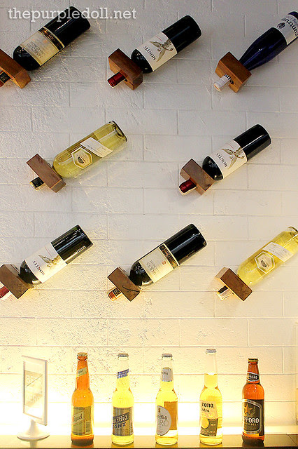 Accent Wall with Wines and Beers