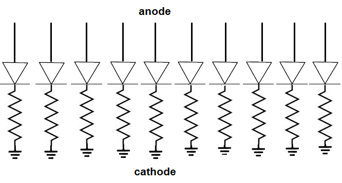 Led Schematic Anode Cathode