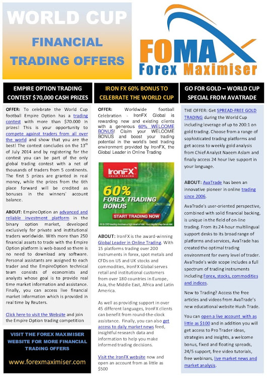 World Cup 2014 - Financial Trading Offers