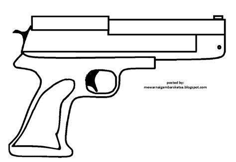 Gambar Mewarnai Gambar Sketsa Pistol 1 Arsip Tembi Net Jagung