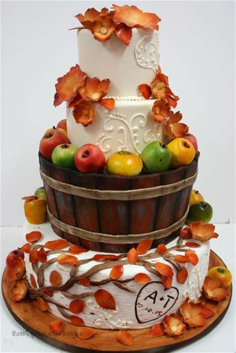 Wedding Cakes NYC   Fall Apples Custom Cakes