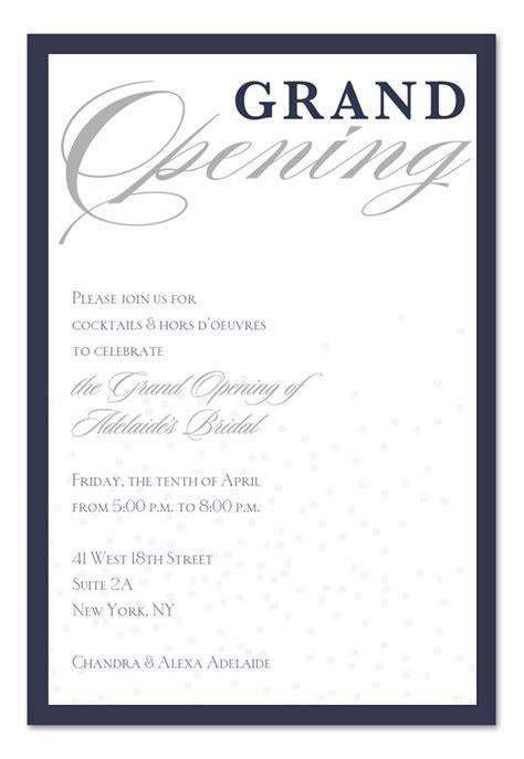 Grand Opening Ceremony Invitation