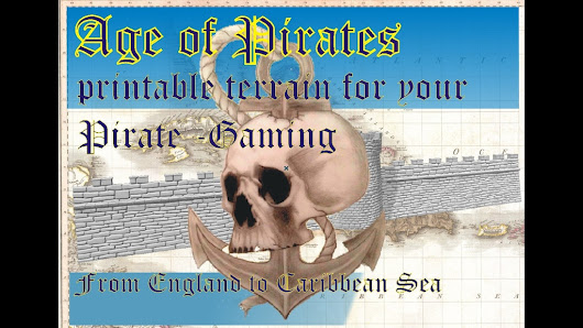 Kickstarter Watch - Ages of Pirates Printable Tabletop Terrain