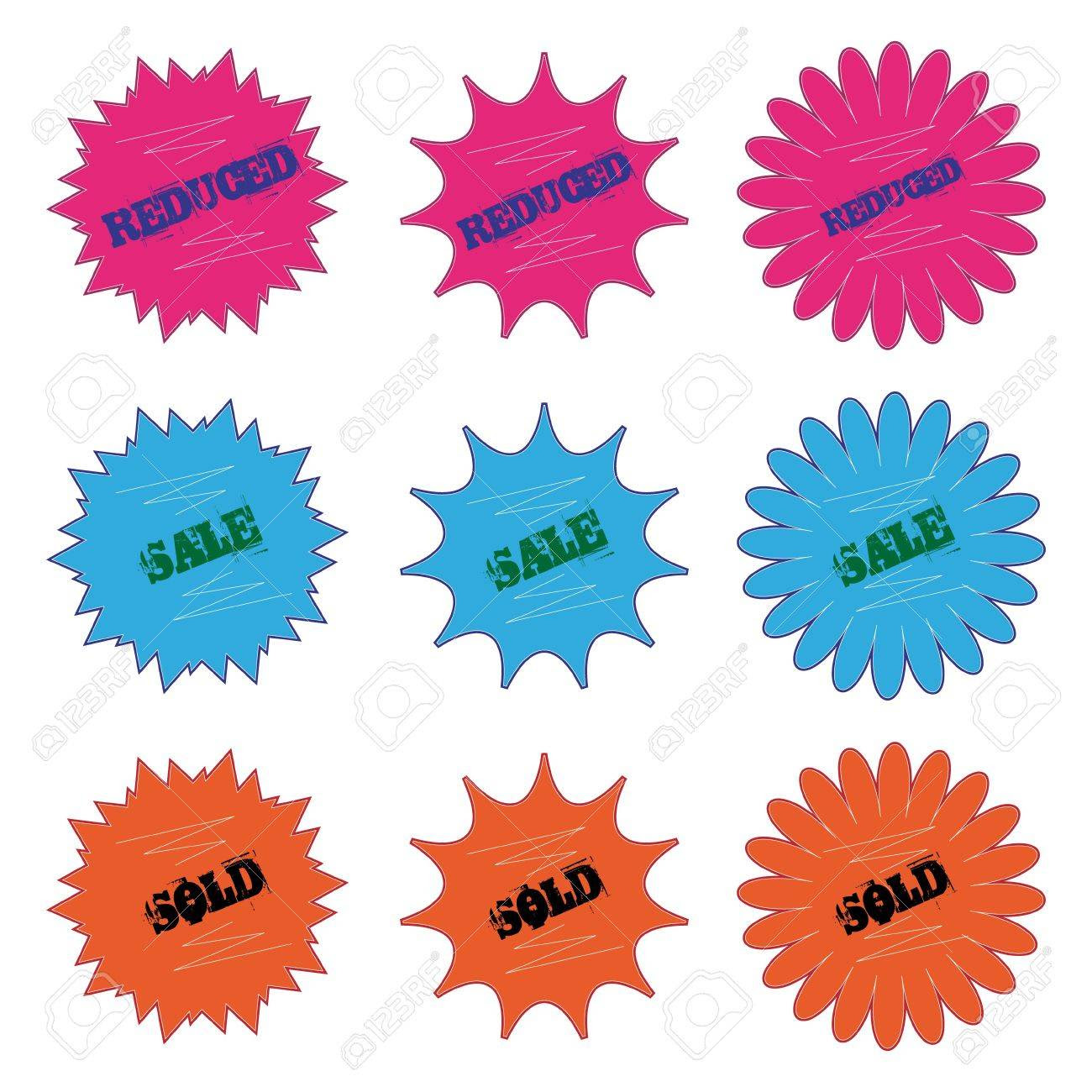 Price Tags Isolated On A White Background. Easy Editable. Royalty ...