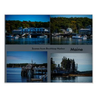 Boothbay Harbor Maine Poster