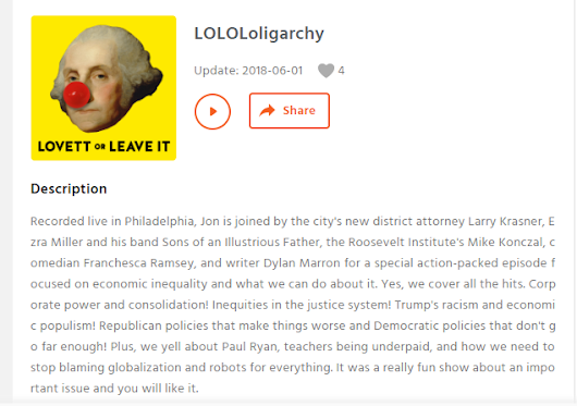 "podcast: "" LOLOLoligarchy"" , Lovett or Leave It"