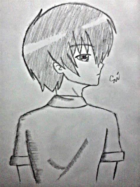 anime guy side view drawing  luciashana  deviantart