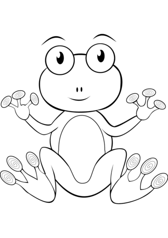 cartoon frog coloring page  free printable coloring pages